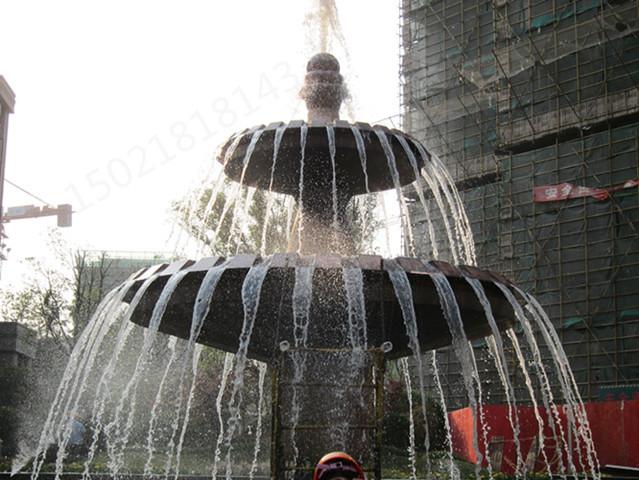晋城花园水池 双层铜水钵雕塑 铸铜※水景喷泉雕塑