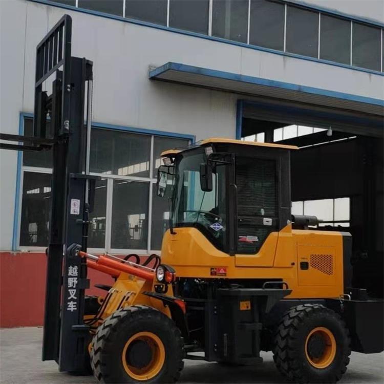 供应货物搬运装卸叉车 柴油越野叉车 3-5吨装载机式越野叉车