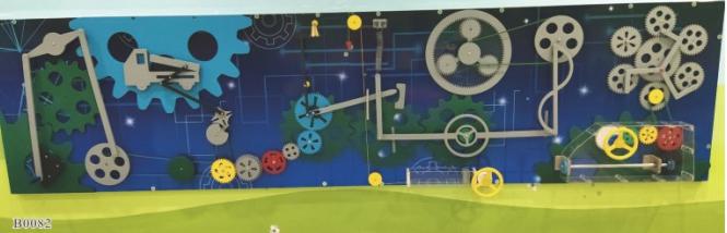 定州兒童玩具設備廠批發兒童卡通齒輪墻