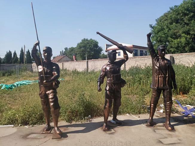 丽水城市空间艺术 铜人物雕塑 铸铜锻铜群雕工厂制作
