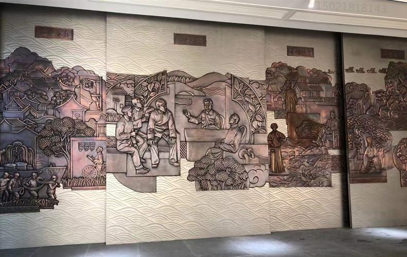 晋城室内外铜浮雕 风景浮雕壁画定制