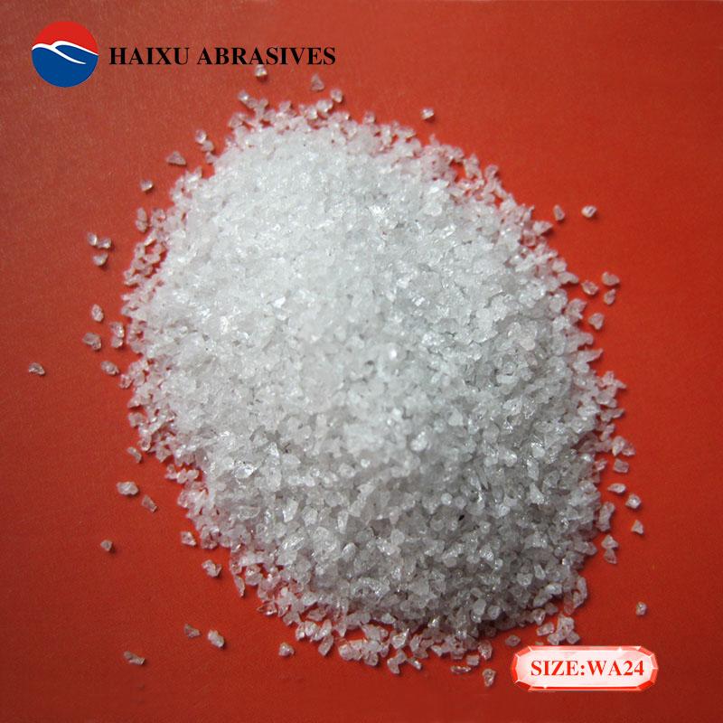 海旭工廠銷售24目金剛砂白色磨料噴砂料