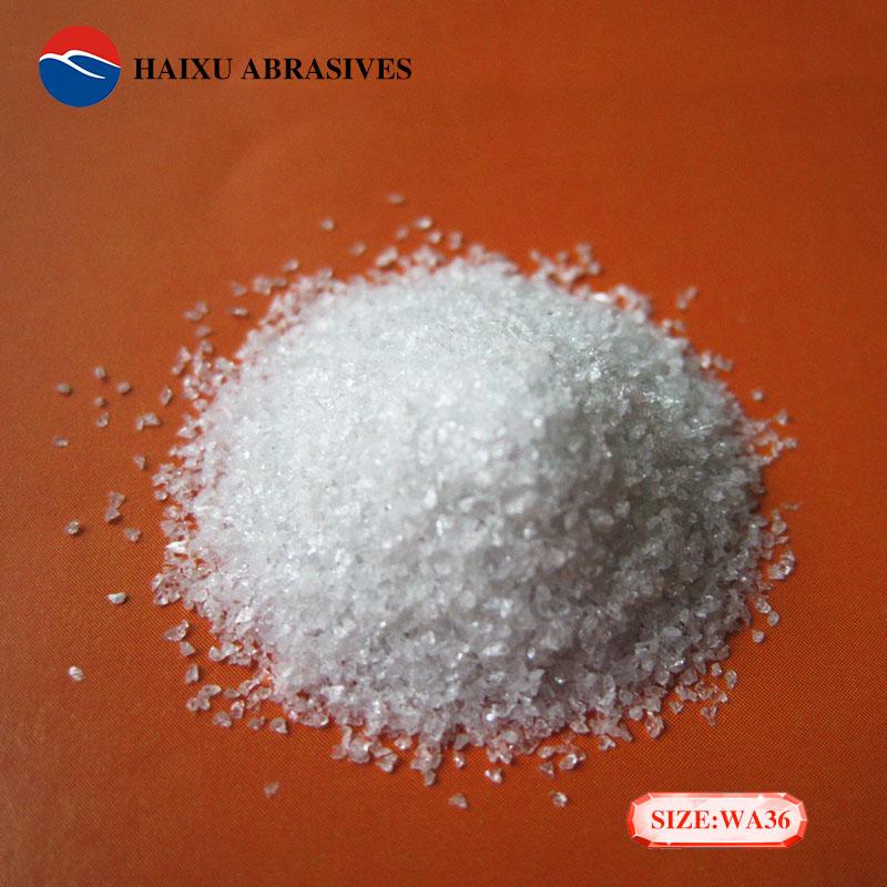 海旭工廠銷售36目金剛砂白色磨料噴砂料