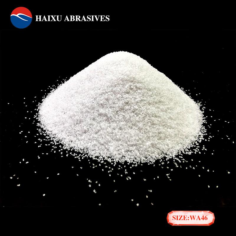 海旭工廠銷售46目金剛砂白色磨料剛玉砂