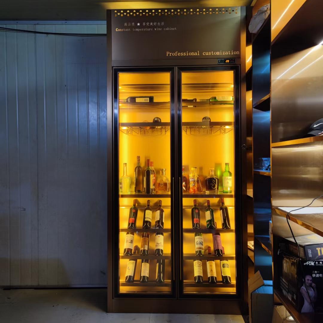 不銹鋼酒柜家用定制恒溫酒架嵌入式商用電子冷藏柜輕奢紅酒柜